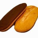 Melindros sabor vainilla bañados de chocolate